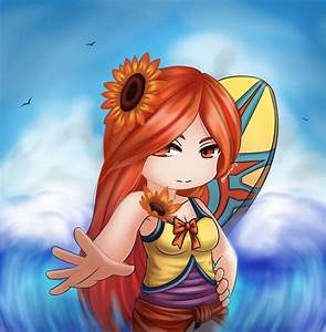 League of Legends - Pool Party Leona Chibi by HecatiArtz ...