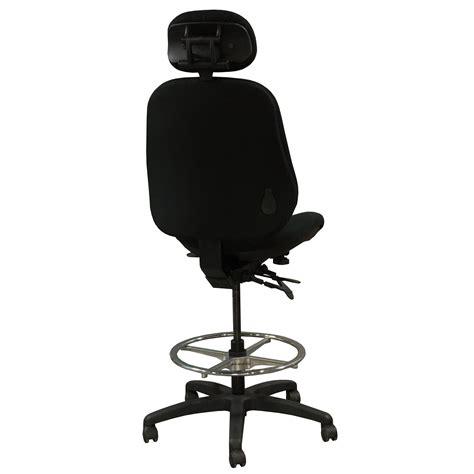 bodybilt j3507 used ergonomic armless stool w headrest