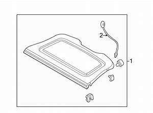 Ford Focus Package Tray Trim  Hatchback  Package Tray  W  O