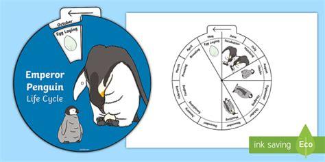 emperor penguin life cycle wheel split pin activity