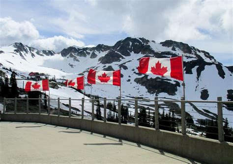whistler canada vancouver flag summer columbia british mountains canadian summit spend