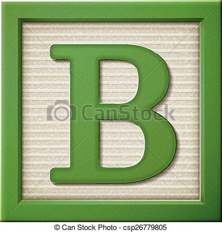 3d block letters up look at 3d green letter block b 20095 | 3d green letter block b vector clipart csp26779805