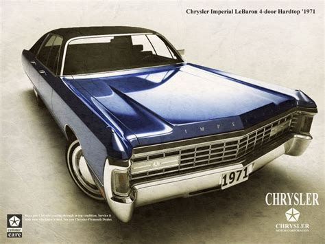 1971 Chrysler Imperial Lebaron  Ad  Jeep Dodge