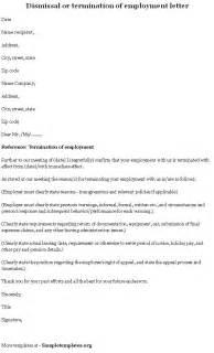 Employment Termination Letter Template
