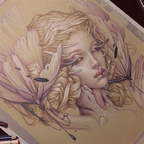 fantasy art drawing sketch colored pencils jennifer