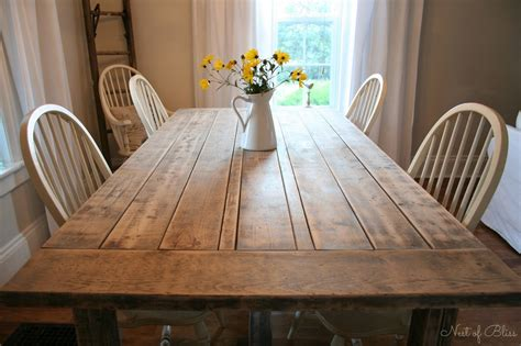 rustic kitchen table farmhouse table makeover nest of bliss