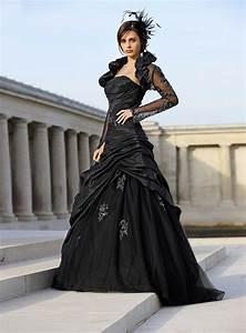 Brautkleid Mit Farbe : brautkleider schwarz ~ Frokenaadalensverden.com Haus und Dekorationen