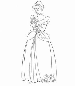 Princesas Disney Cenicienta Para Colorear Imagui