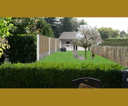 tuin lang smal ontwerp voor lange smalle tuin groeninfo tuinforum