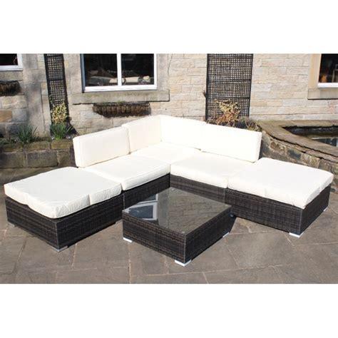 rattan outdoor all weather garden furniture corner sofa