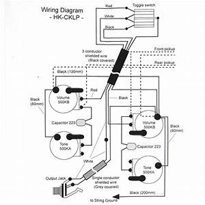 Wiring Kit For Lp Type Guitars  With Diagram  Black