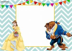 Free, Printable, Beauty, And, The, Beast, Royal, Invitation