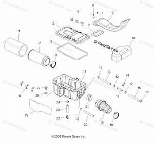 Polaris Atv 2010 Oem Parts Diagram For Engine  Air Intake
