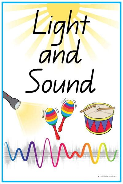 44 light and sound vocabulary words and pictures