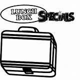 Coloring Pages Colouring Lunchbox Special Lunch Box Clipartmag sketch template
