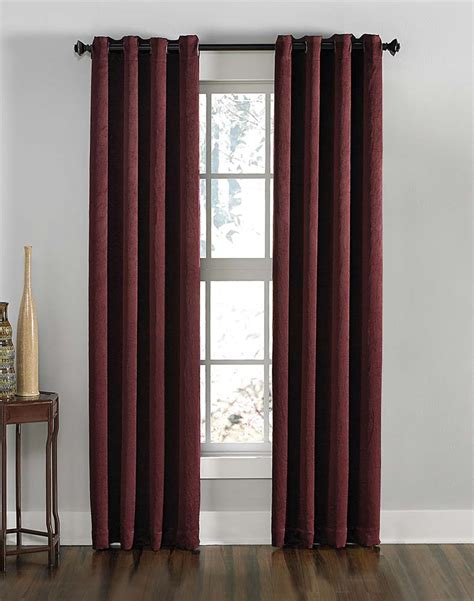Curtains 95 Inches Length by Lenox Crashed Textured Room Darkening Grommet Panel