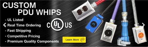 pdu cables ul listed data center whips  floor