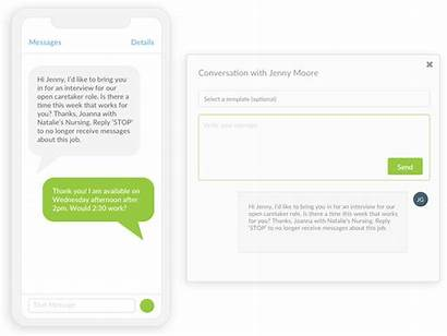 Communication Text Candidate Messaging