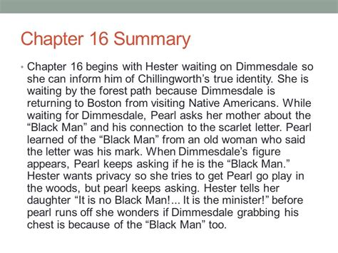chapter 15 summary for the scarlet letter the scarlet the scarlet letter chapters ppt 12847