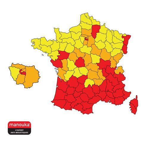 Carte De Par Departement 2018 by Carte Du Moustique Tigre 2018 Vigilance Moustiques