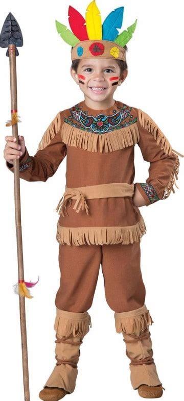 Sencillo disfraz o trajes de indios para niños