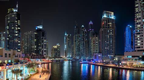 Landscape, Dubai, City, Night Wallpapers Hd / Desktop And