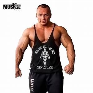 MUSCLE ALIVE Gold Gyms Clothing Tank Top Fitness Men ...