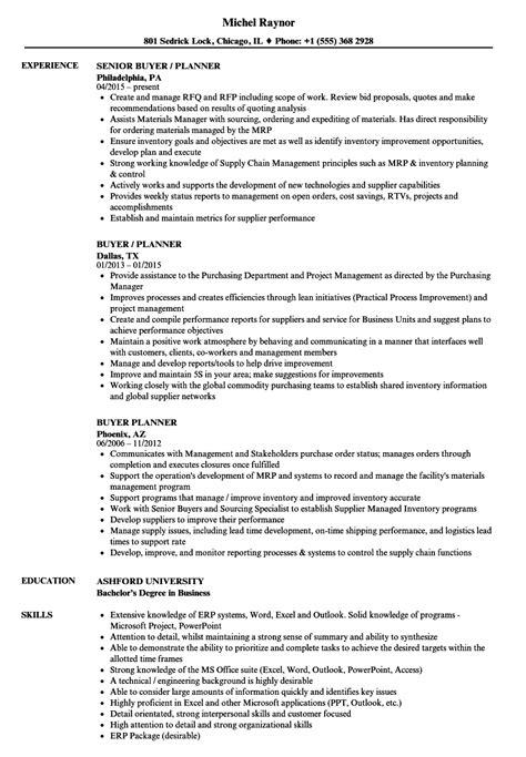 Buyer Resume by Buyer Planner Resume Sles Velvet