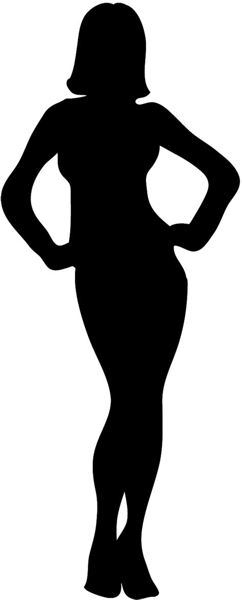 clipart girl body outline clipground