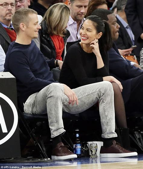olivia munn   courtside affection  joel