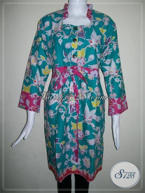 dress batik wanita warna hijau kombinasi merah tali