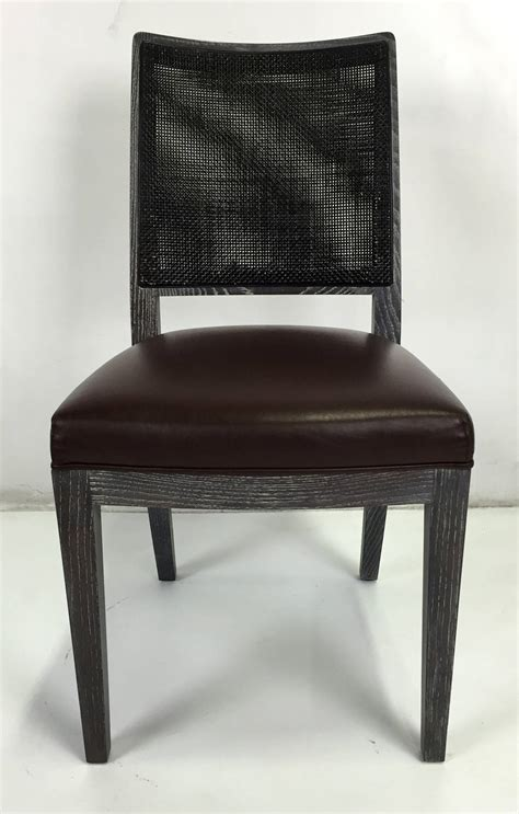 set of eight cerused oak calipso dining chairs by b b