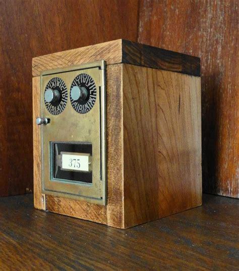 maple bank  vintage brass post office mail box door