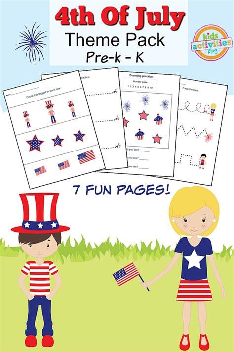 4th of july printable preschool worksheet pack 212 | 4th july pack fi