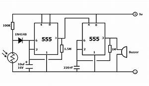 fridge door alarm circuit with delay time simple projects With entry alarm circuit