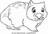 Ox Musk Coloring Colouring Template Animato Animale Cartone Wombat Libro Marsupiale Colorante Clip Fotosearch sketch template
