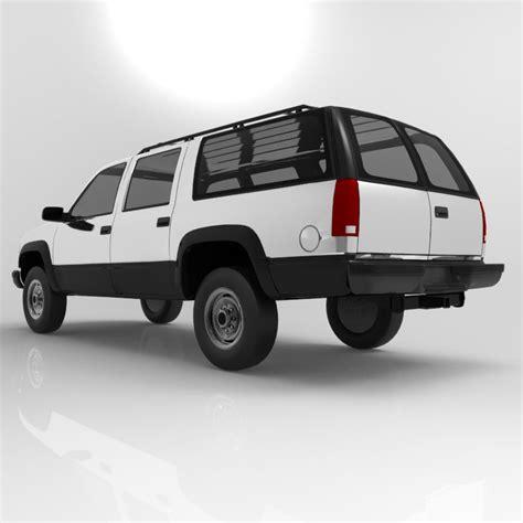 Chevrolet Suburban 1998 3d Model Obj Mtl Pdf Cgtradercom