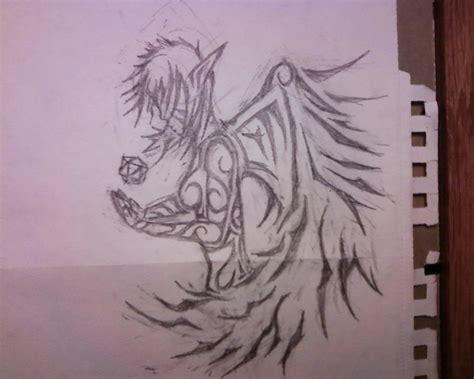 angel tribal design   sidekickmike  deviantart