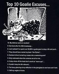 Top 10 Goalie E... Funny Hockey Goalie Quotes