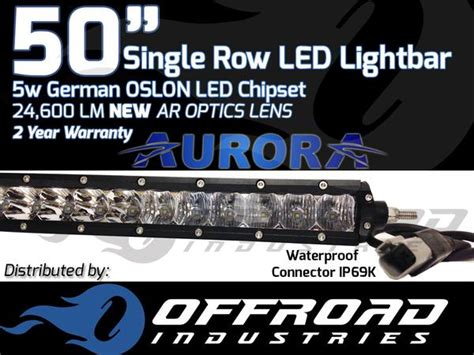 50 quot inch 5w single row led light bar offroad