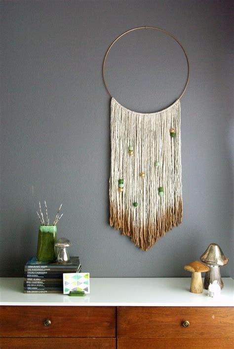 easy diy yarn art wall hanging ideas child  heart blog
