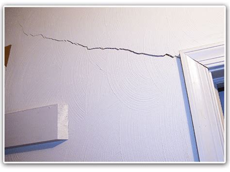 Drywall Cracks  A Common Foundation Repair Problem Sign