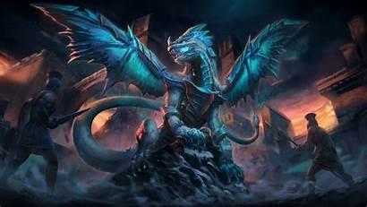 Dragon Wallpapers Ice Background Deviantart Kukulkan Smite