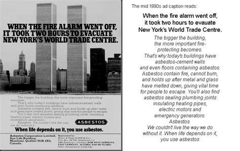 donalds dust asbestos  world trade center
