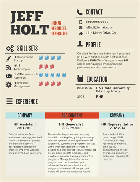 Free Infographic Resume Template by 28 Infographic Resume Template Free 35 Infographic