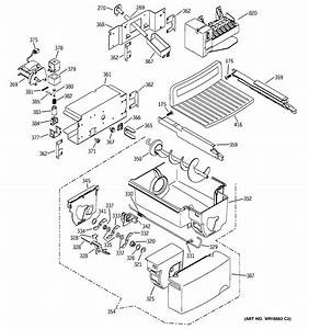 Assembly View For Icemaker  U0026 Dispenser