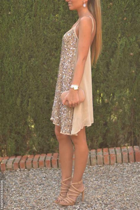 Side Shoulder Deep Neck Sleeveless Glitter Dress - Womenitems.Com