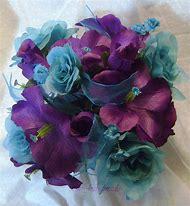 Purple Hibiscus Wedding Bouquet