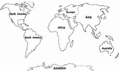 Continents Outline Coloring Worksheet Map Continent Pages