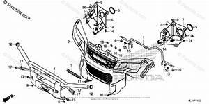 Honda Side By Side 2016 Oem Parts Diagram For Front Grille